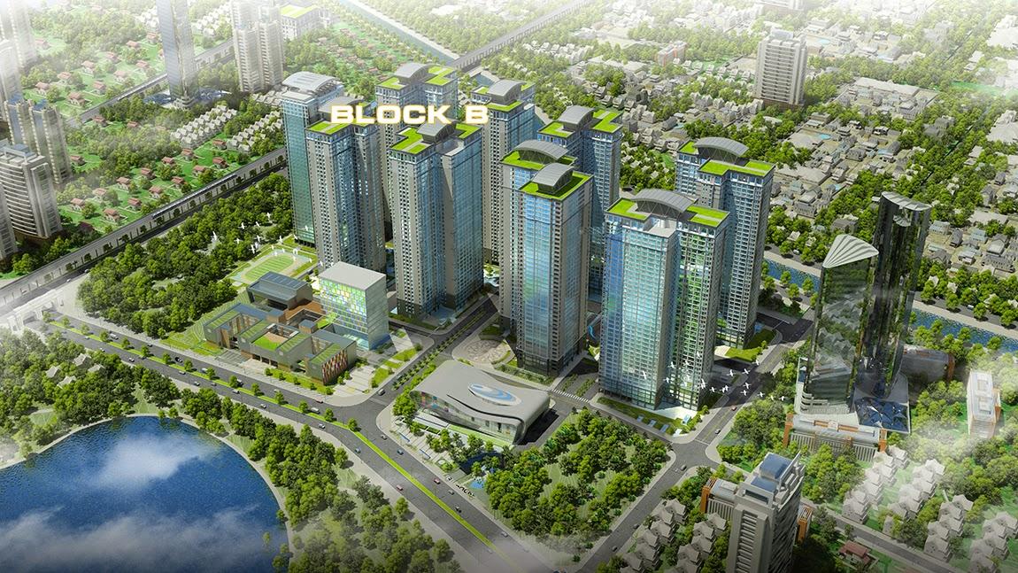 Phối cảnh chung cư Goldmark City 136 Hồ Tùng Mậu